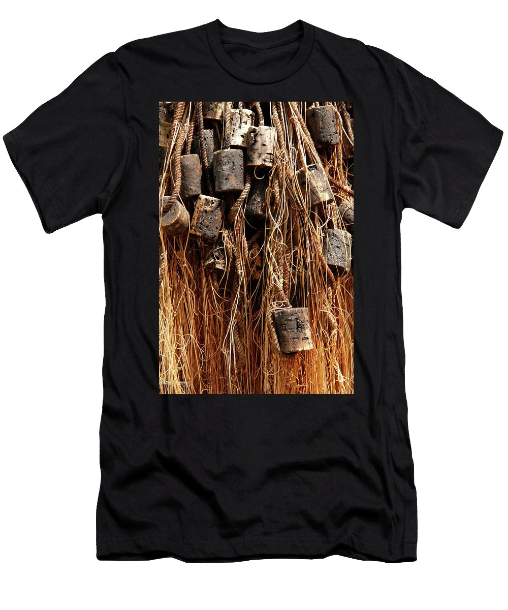 Enkhuizen Men's T-Shirt (Athletic Fit) featuring the photograph Enkhuizen Fishing Nets by KG Thienemann