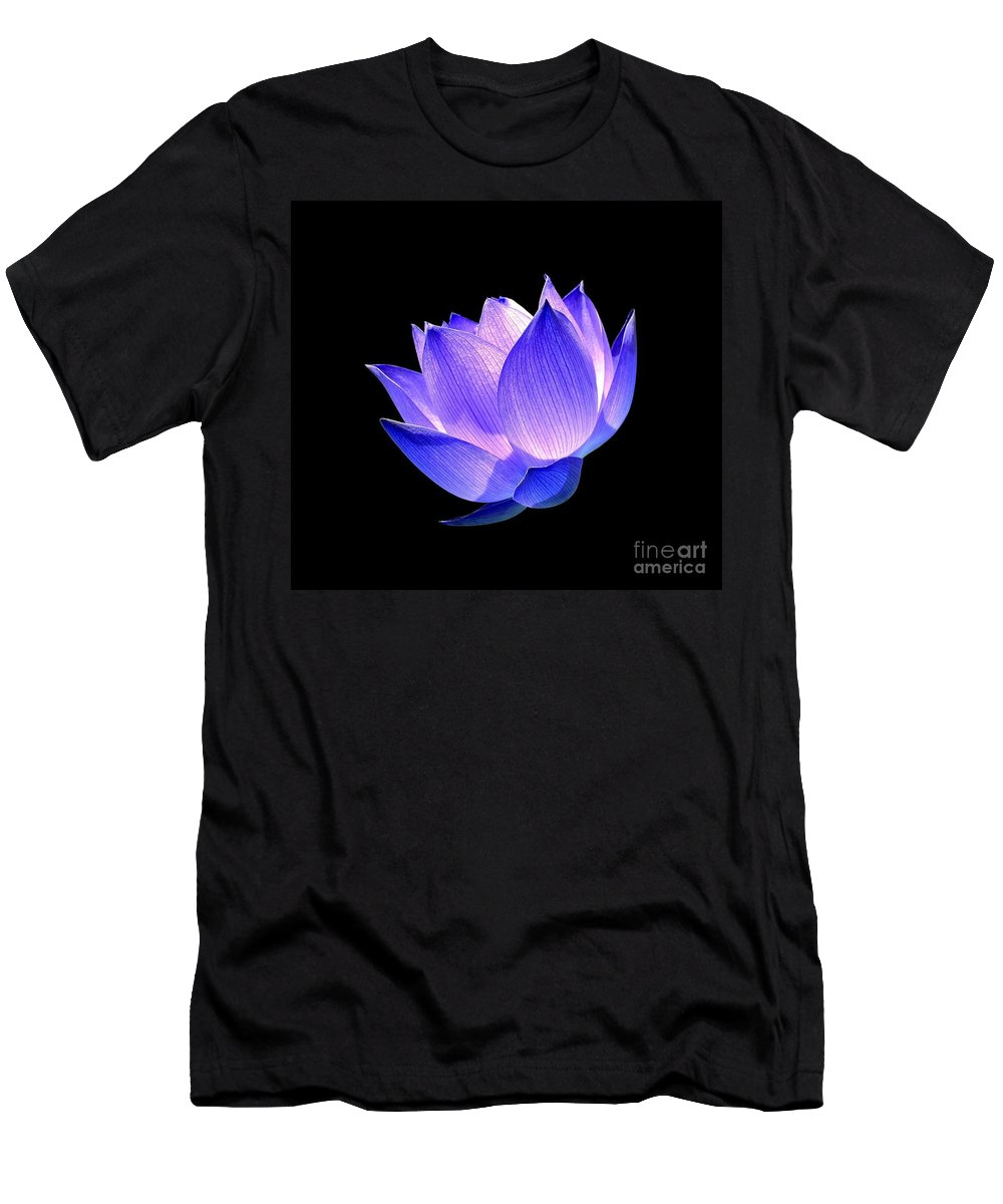 Flower Men's T-Shirt (Athletic Fit) featuring the photograph Enlightened by Jacky Gerritsen