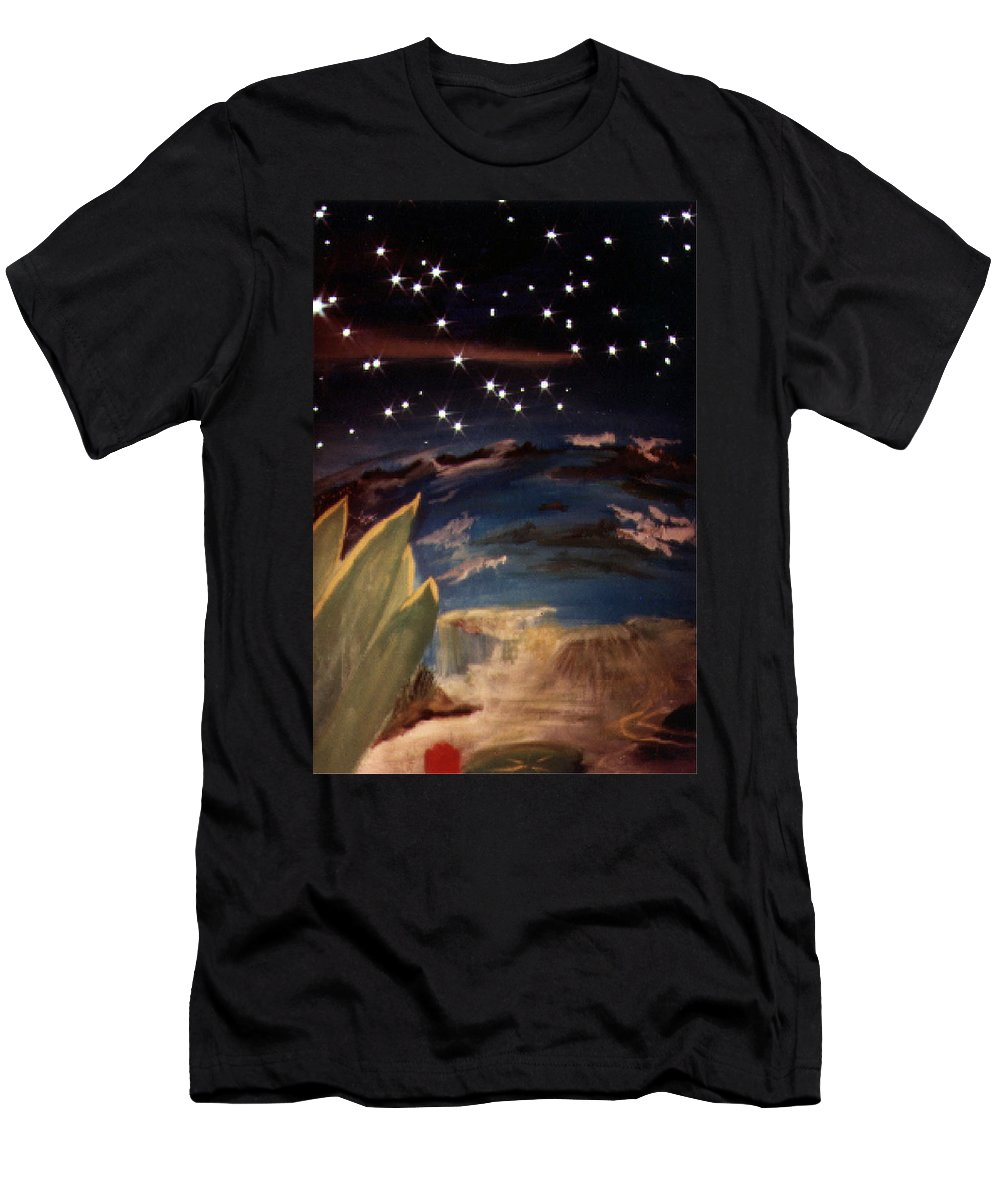 Surreal Men's T-Shirt (Athletic Fit) featuring the painting Enter My Dream by Steve Karol