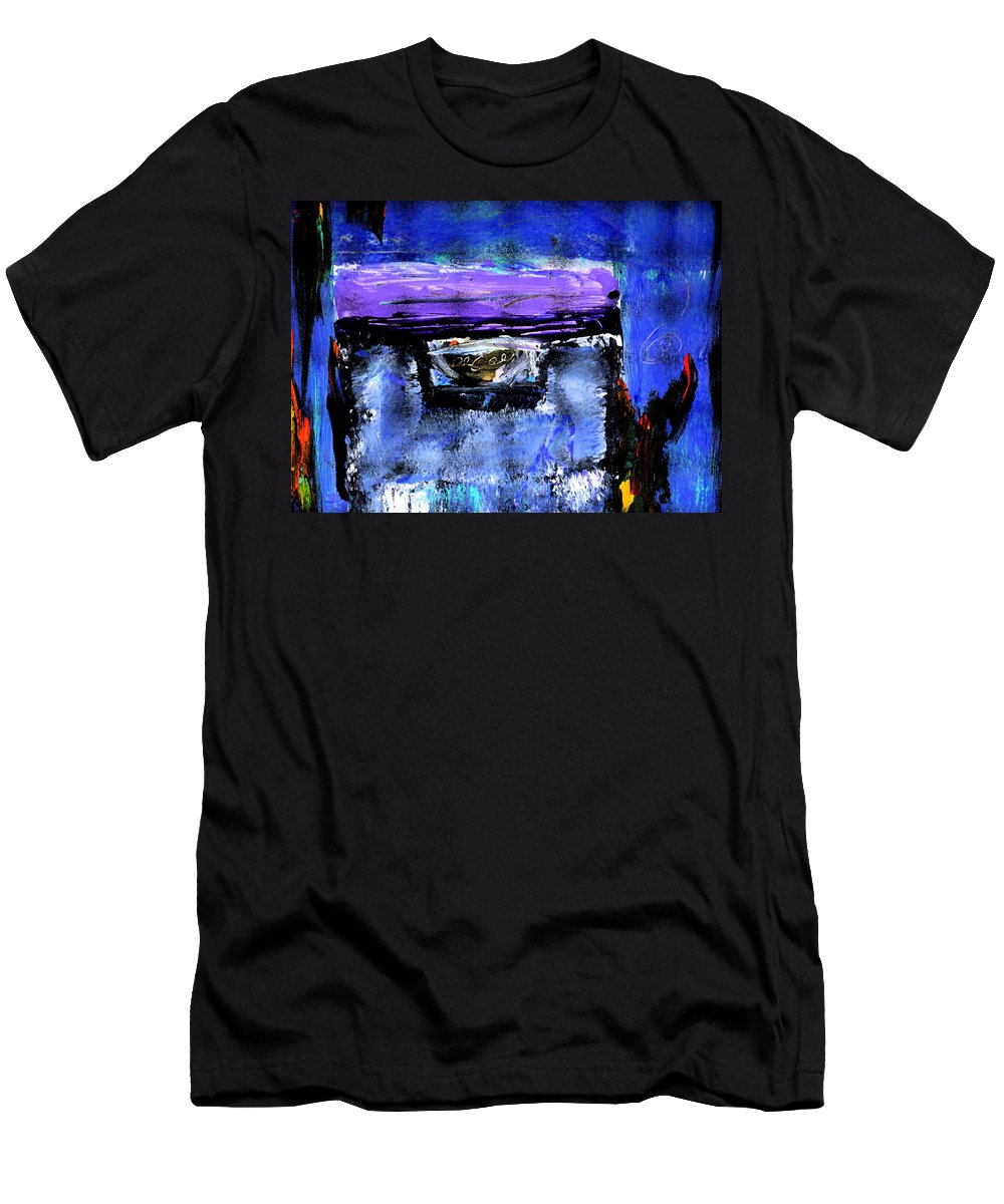 Abstract Men's T-Shirt (Athletic Fit) featuring the painting Enter by Wayne Potrafka