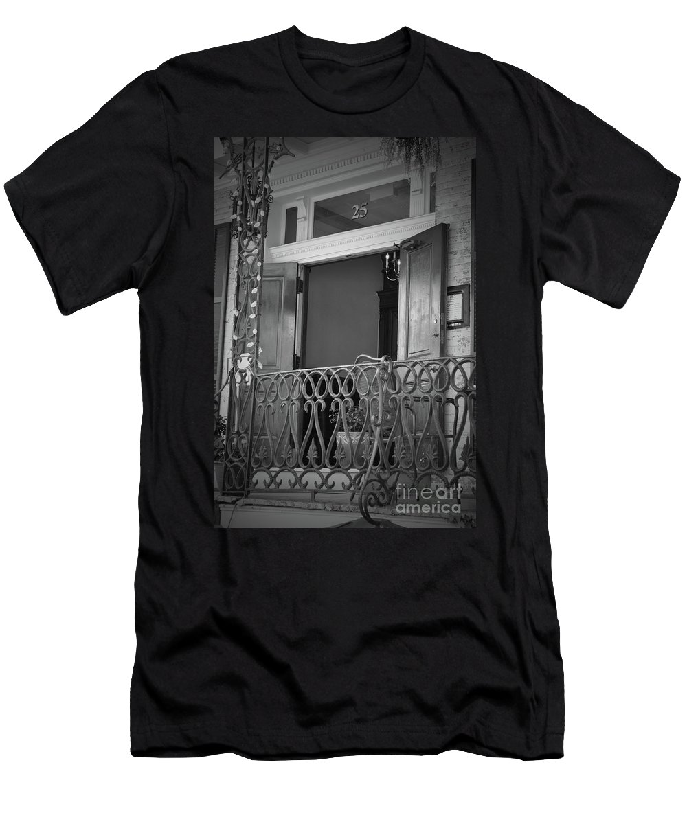Doors Men's T-Shirt (Athletic Fit) featuring the photograph Entrance 25 Piccadilly by Jost Houk