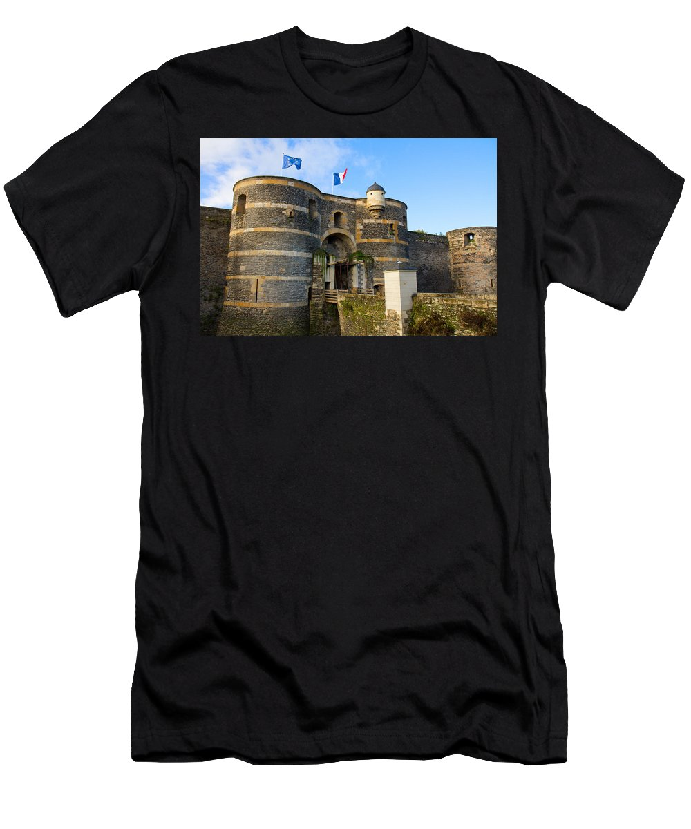 Anger Men's T-Shirt (Athletic Fit) featuring the photograph Entrance Gate Of Angers Castle by Anastasy Yarmolovich