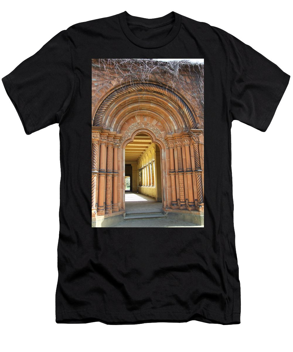 Entry Men's T-Shirt (Athletic Fit) featuring the photograph Entry Cross-coat by Christiane Schulze Art And Photography