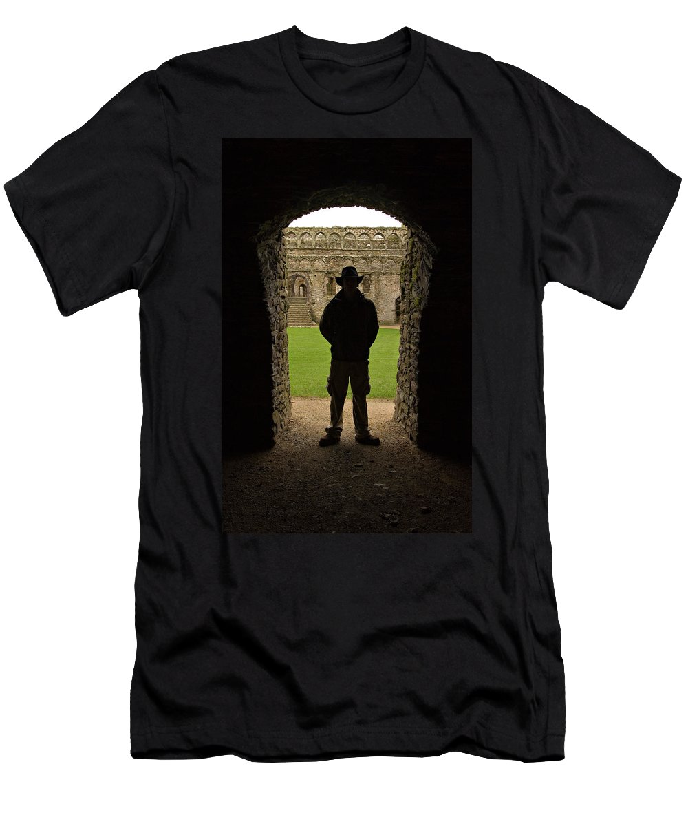 Cathedral Men's T-Shirt (Athletic Fit) featuring the photograph Entryway by Scott Sawyer