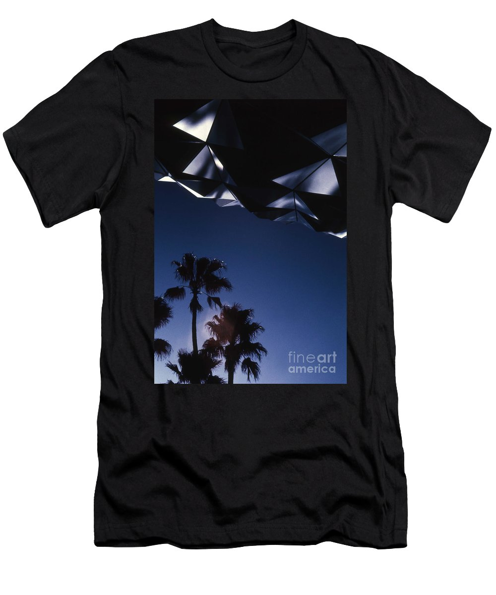 Epcot Men's T-Shirt (Athletic Fit) featuring the photograph Epcot Abstract by Richard Rizzo