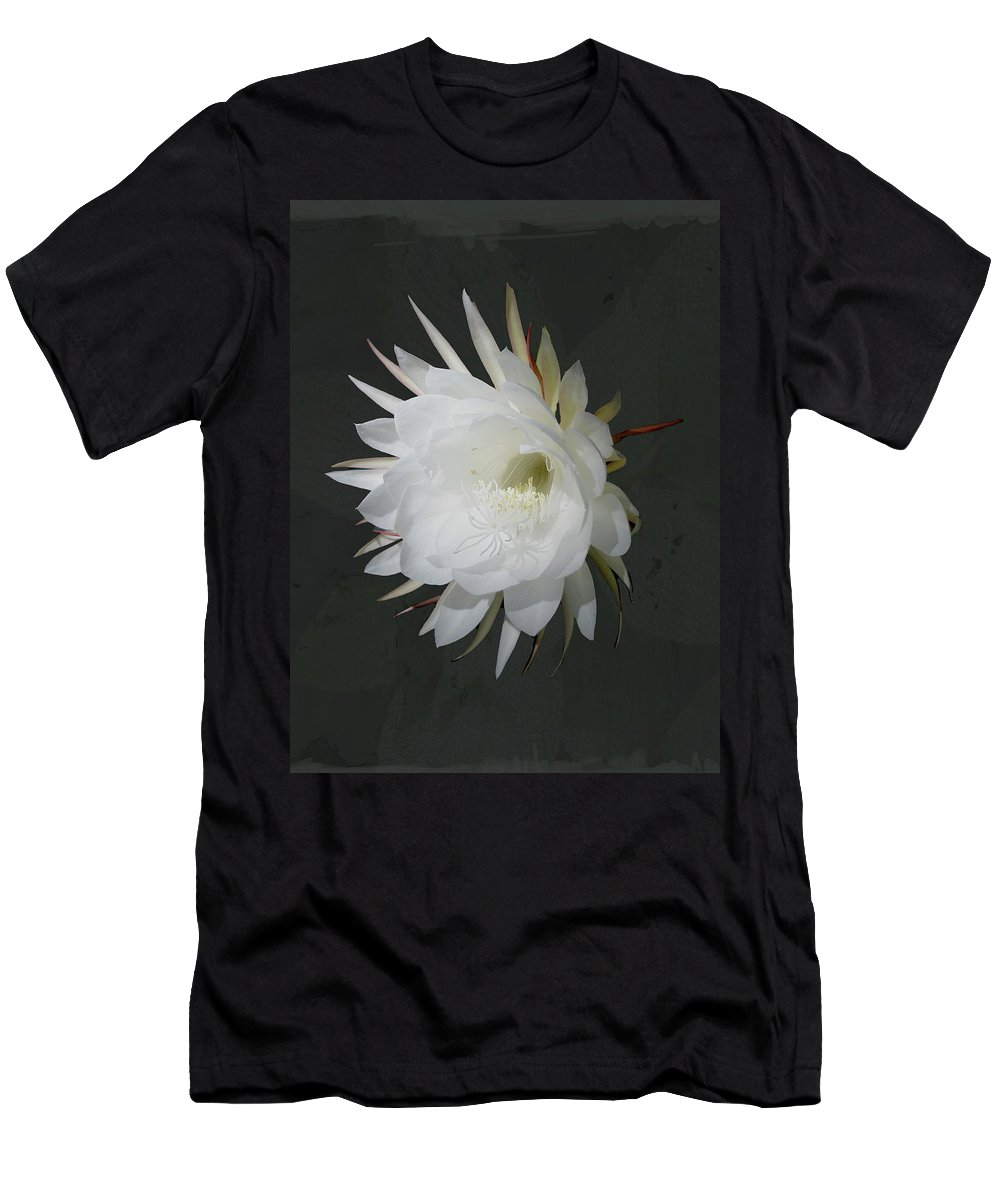 Flower Men's T-Shirt (Athletic Fit) featuring the photograph Epiphyte Blossom - Epiphyllum Oxypetalum by Mother Nature