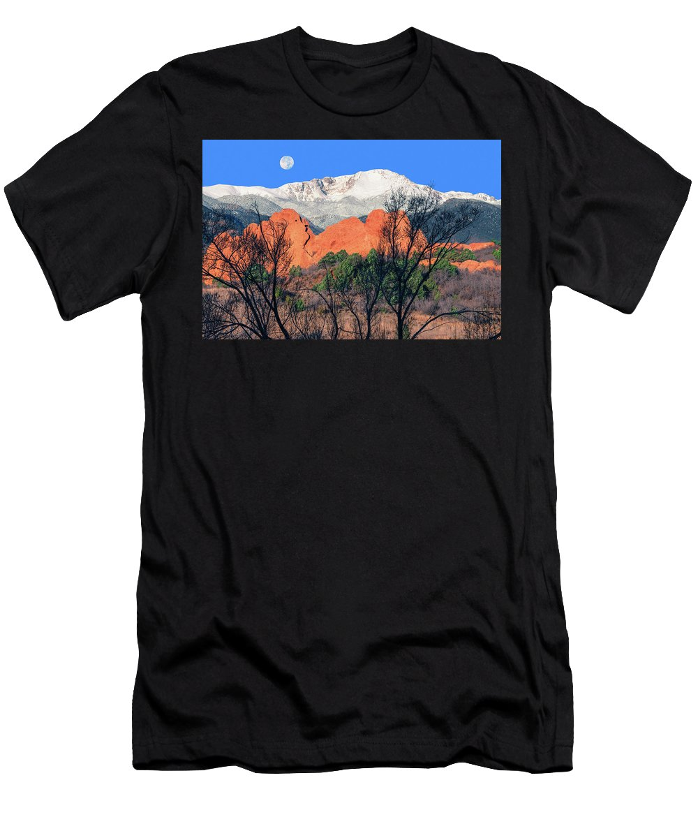 The Amphitheater Rock Formation Men's T-Shirt (Athletic Fit) featuring the photograph Epona, The Mountain Goddess Of Britannia And Gaul by Bijan Pirnia