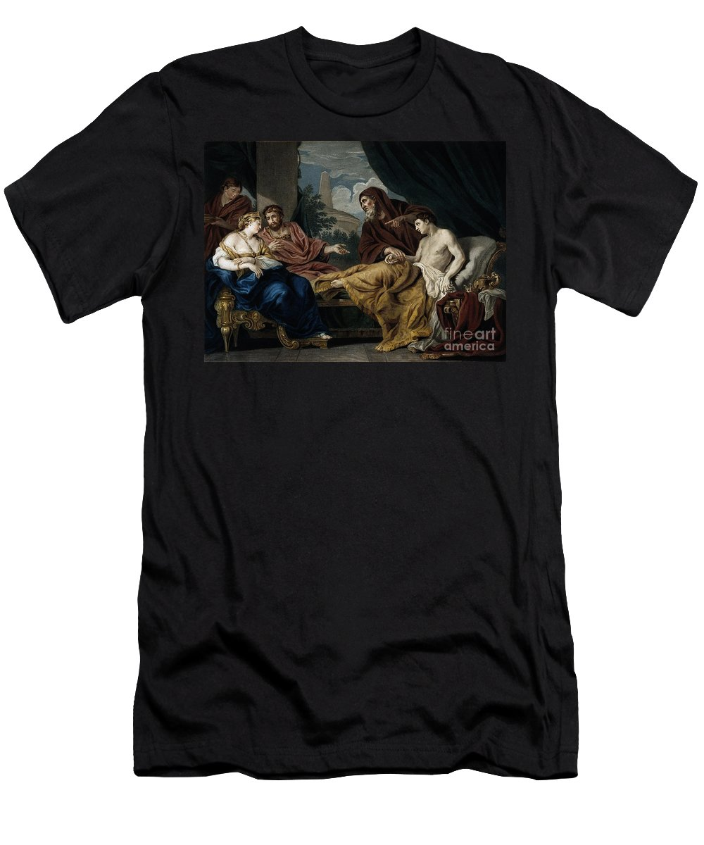 Science Men's T-Shirt (Athletic Fit) featuring the photograph Erasistratus, Ancient Greek Physician by Wellcome Images