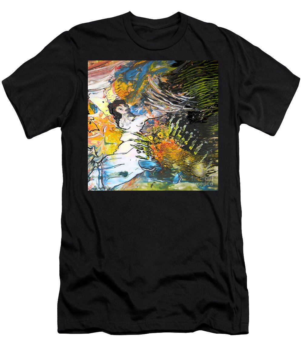 Miki Men's T-Shirt (Athletic Fit) featuring the painting Erotype 07 2 by Miki De Goodaboom