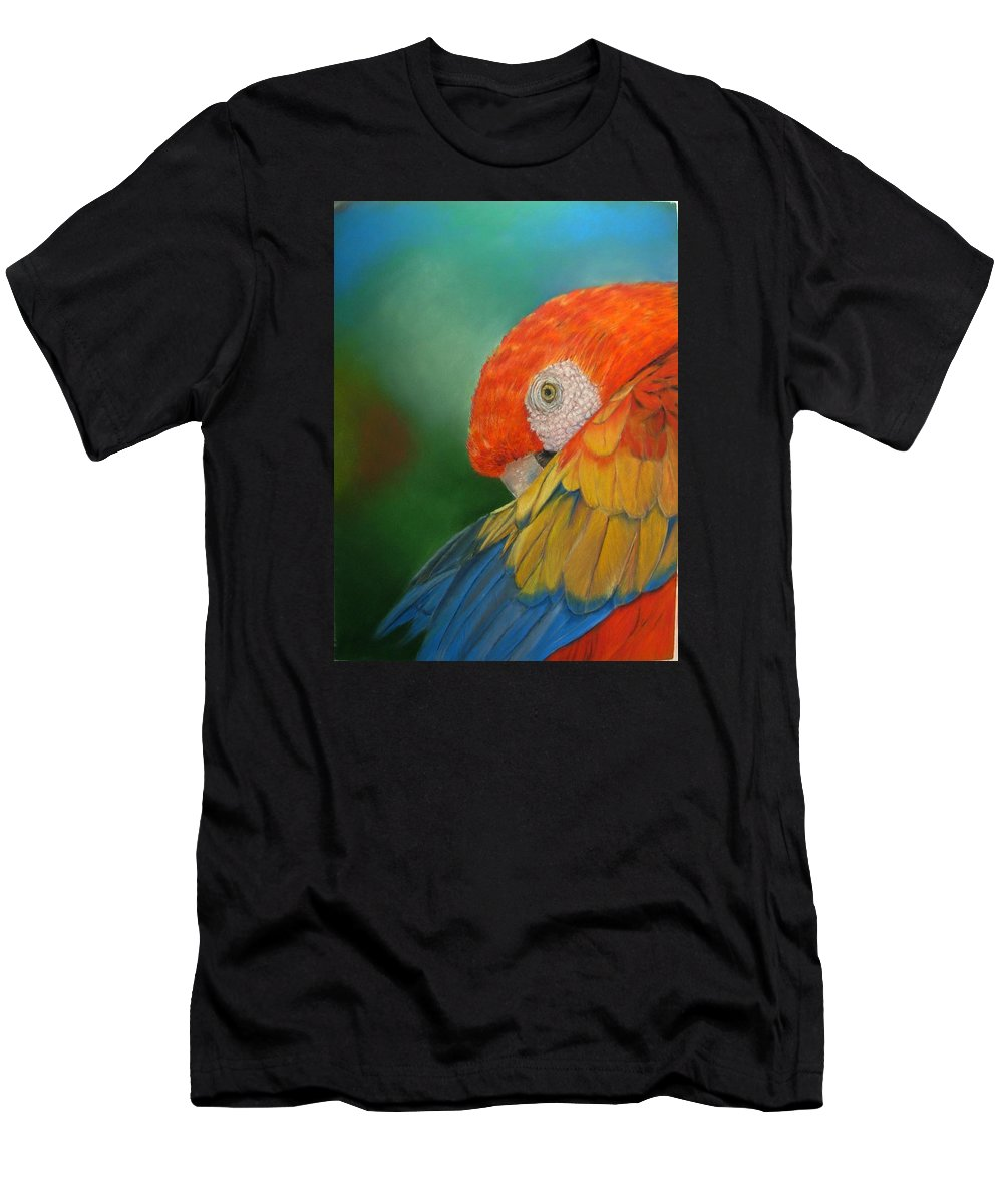 Bird Men's T-Shirt (Athletic Fit) featuring the painting Escondida by Ceci Watson