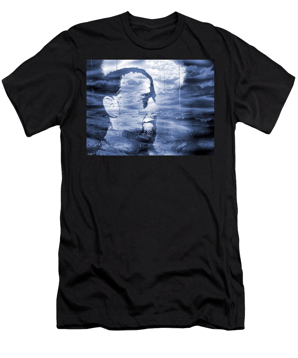 Fine Art Photography Men's T-Shirt (Athletic Fit) featuring the photograph Esoteric And Exoteric Visions Meet. by Abstract Angel Artist Stephen K