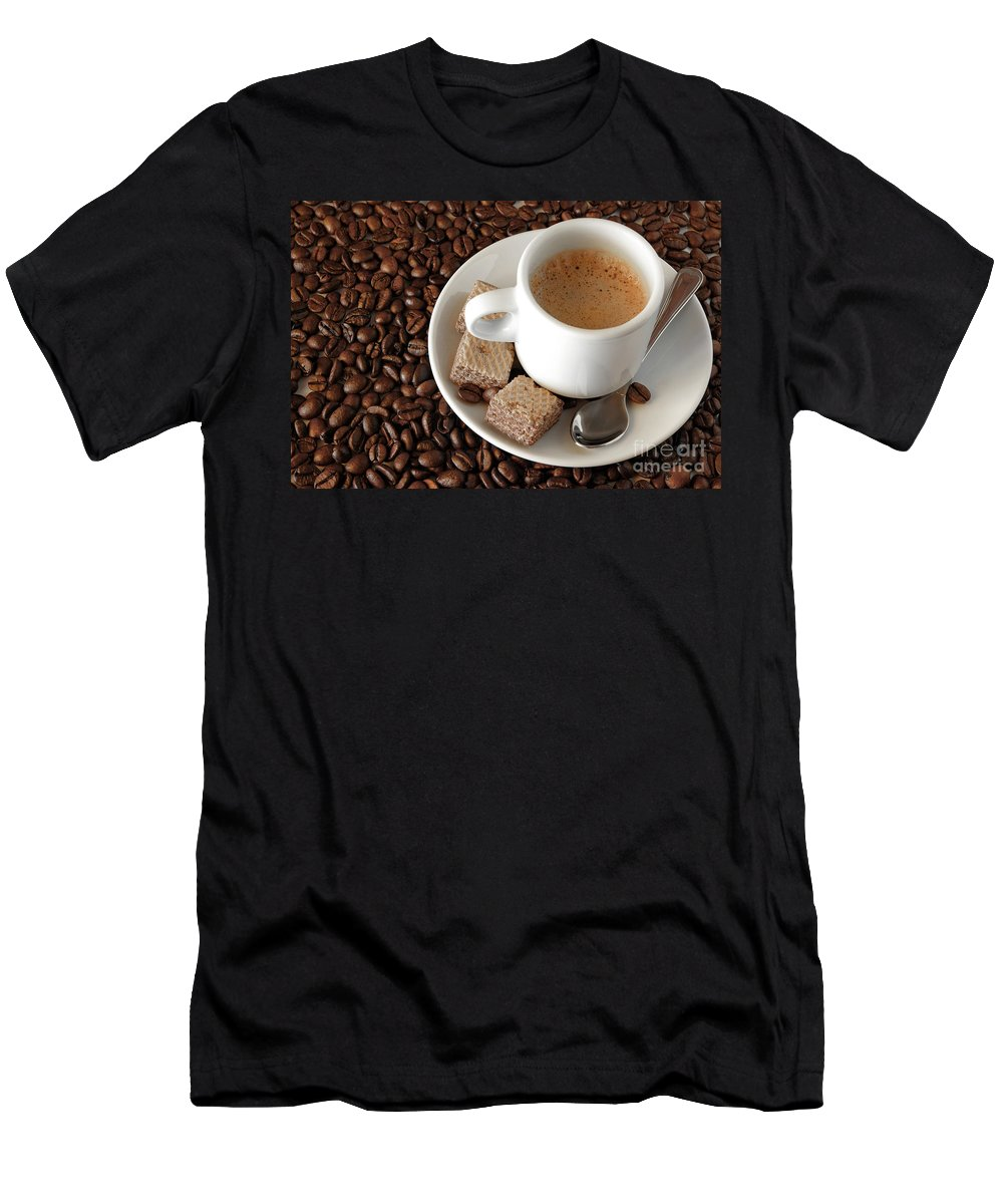 Addiction Men's T-Shirt (Athletic Fit) featuring the photograph Espresso Coffee by Carlos Caetano
