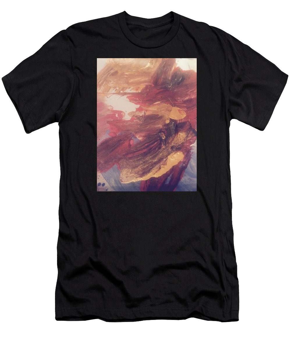 Abstract Men's T-Shirt (Athletic Fit) featuring the painting Essence Of Two by Edward Paul