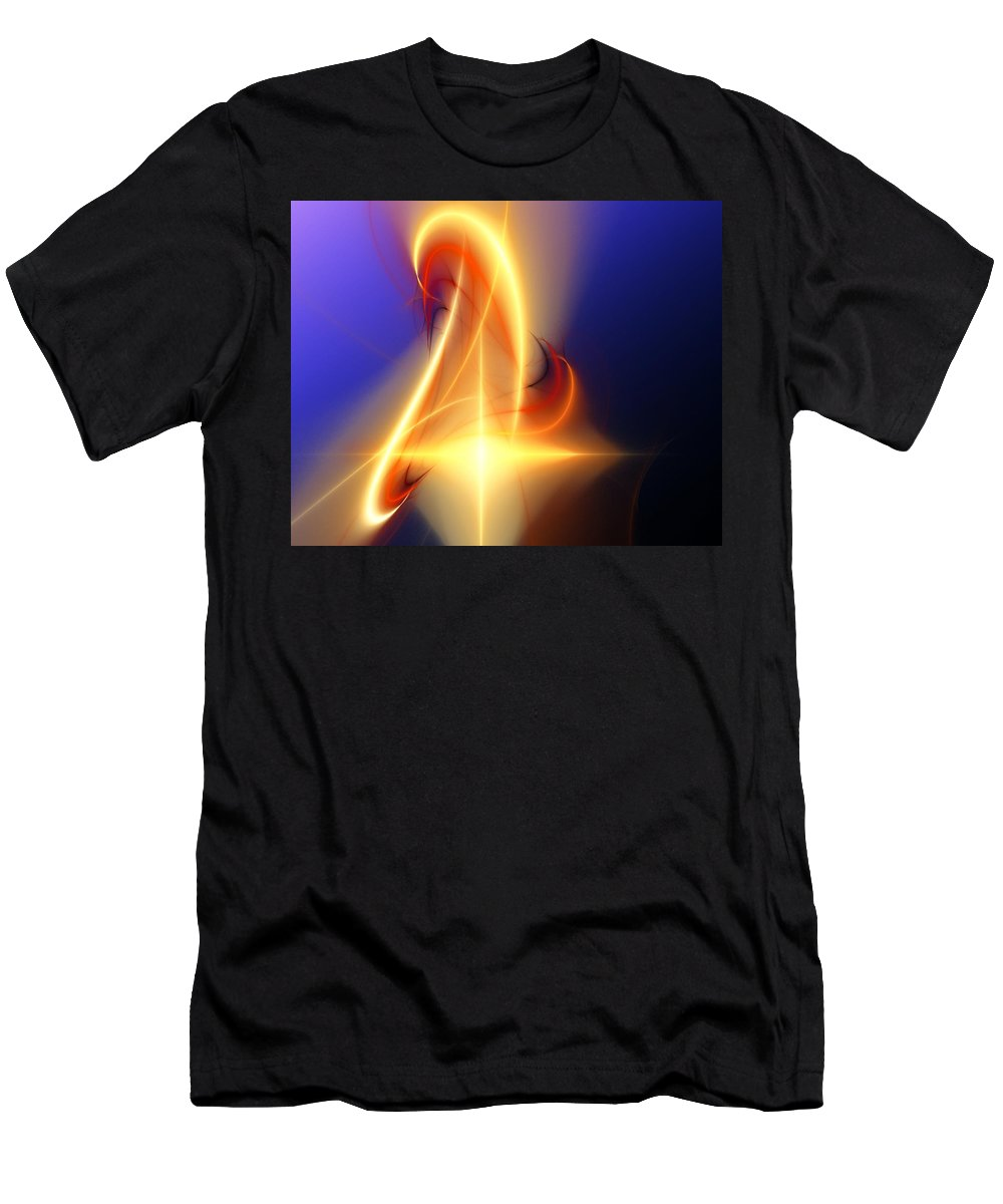 Digital Painting Men's T-Shirt (Athletic Fit) featuring the digital art Eternal Flame by David Lane