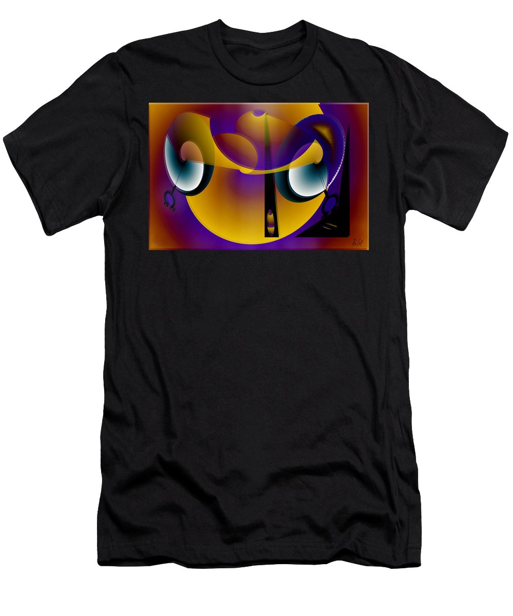 Eternity Men's T-Shirt (Athletic Fit) featuring the digital art Eternity Clock by Helmut Rottler