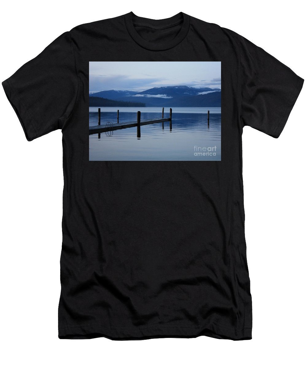 Priest Lake Men's T-Shirt (Athletic Fit) featuring the photograph Tranquil Blue Priest Lake by Carol Groenen