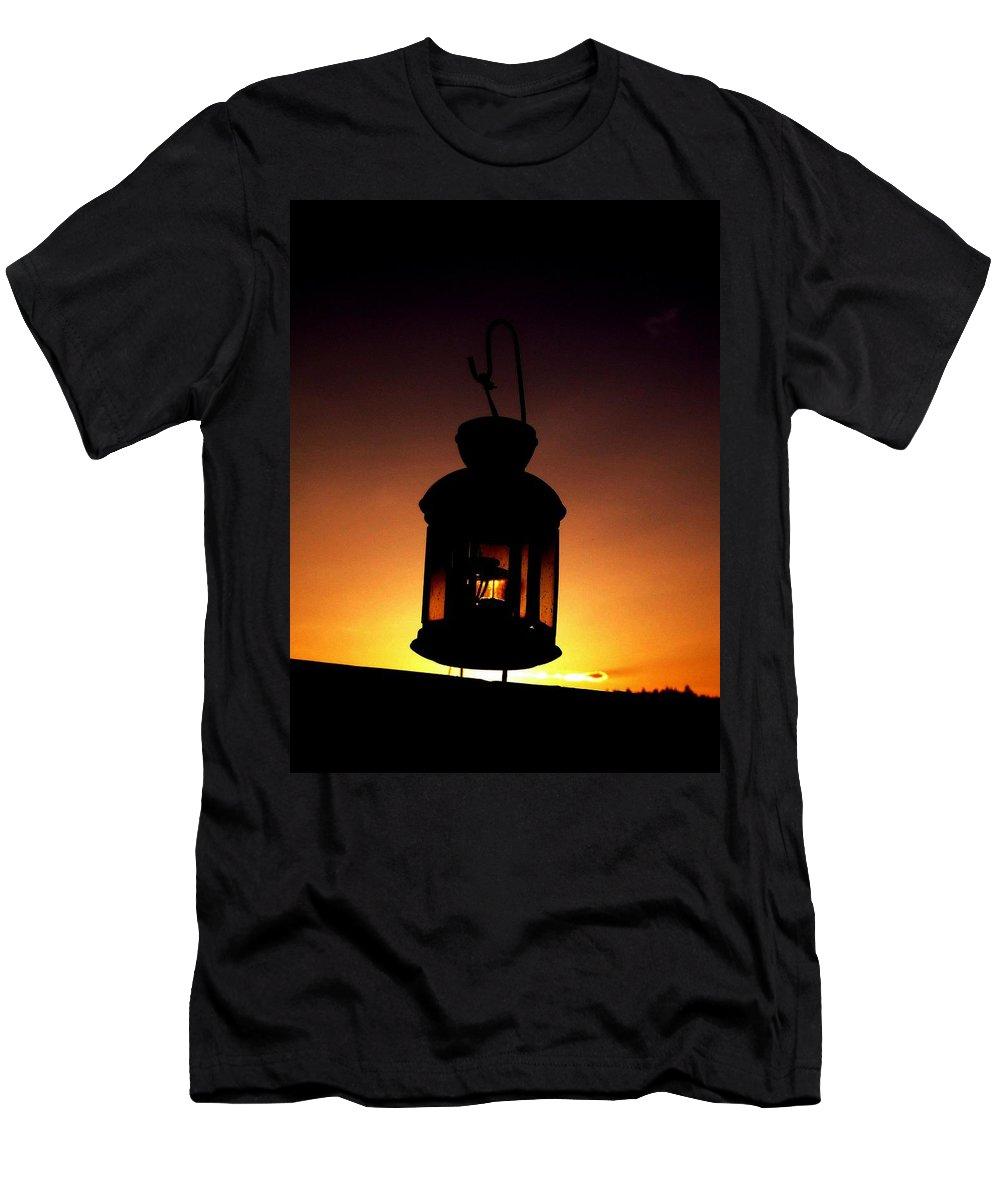Lantern Men's T-Shirt (Athletic Fit) featuring the photograph Evening Lantern by Tim Allen