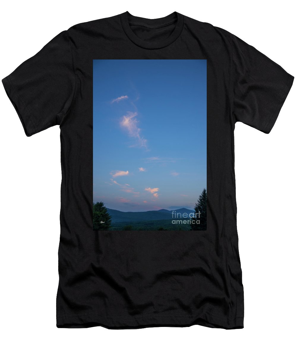 Evening Men's T-Shirt (Athletic Fit) featuring the photograph Evening Over The Valley by Alana Ranney