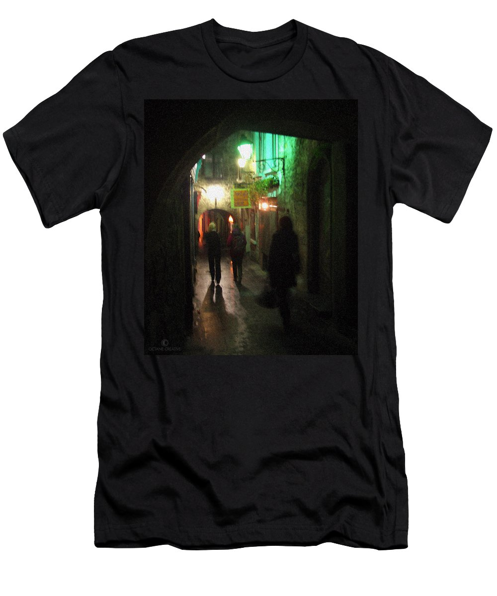 Ireland Men's T-Shirt (Athletic Fit) featuring the photograph Evening Shoppers by Tim Nyberg