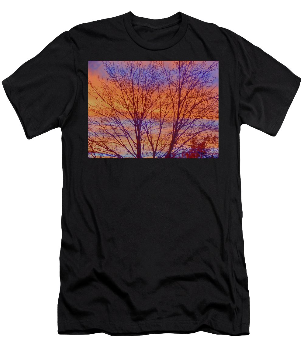 Objects Men's T-Shirt (Athletic Fit) featuring the photograph Evening Sky by Joy Rector