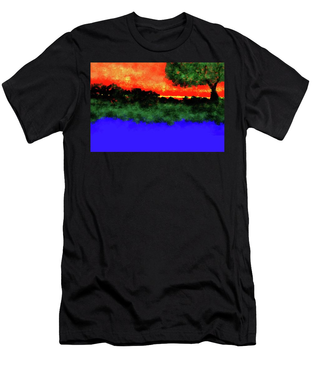 Men's T-Shirt (Athletic Fit) featuring the digital art Evening by Vijay Prakash