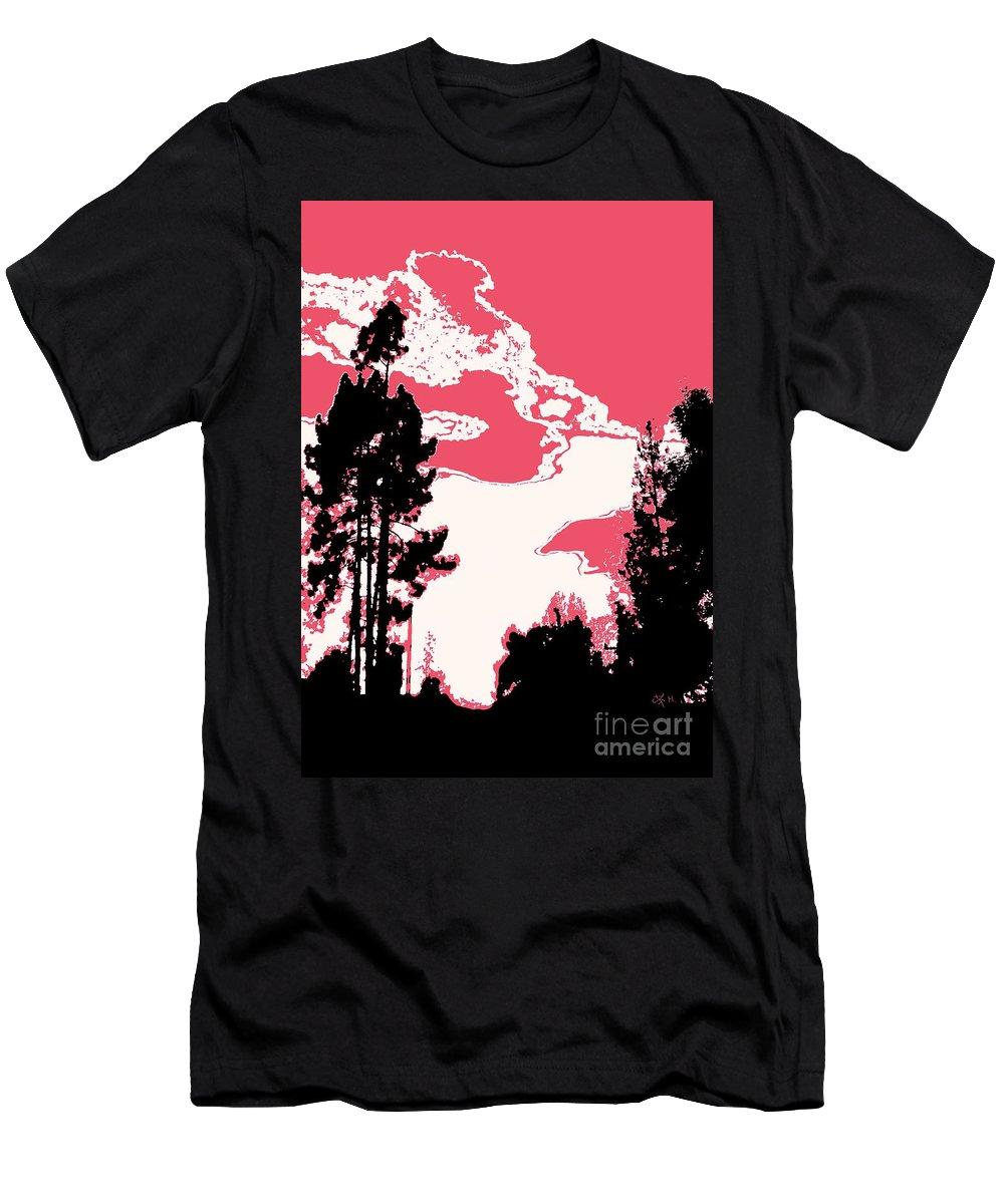 Landscape Men's T-Shirt (Athletic Fit) featuring the photograph Evening Dancer by Wonju Hulse