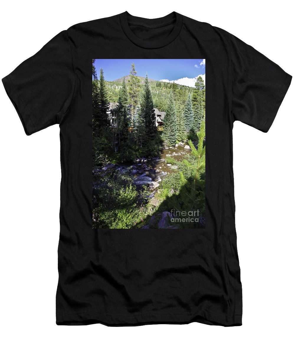 Vail Men's T-Shirt (Athletic Fit) featuring the photograph Ever Vail by Madeline Ellis