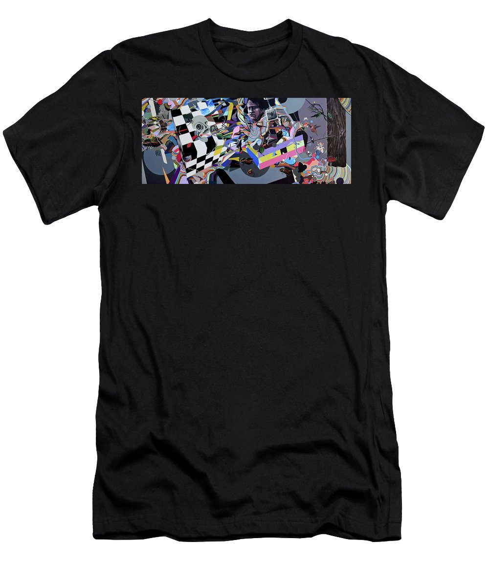 Faces Men's T-Shirt (Athletic Fit) featuring the painting Every Inch by Zach Stelling