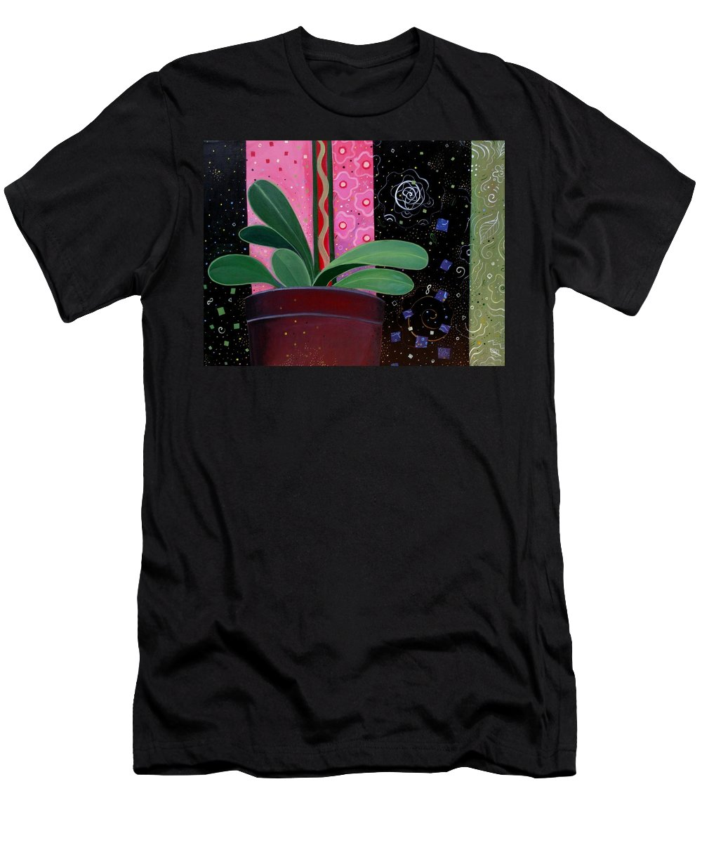 Sacred Men's T-Shirt (Athletic Fit) featuring the painting Everyday Sacred by Helena Tiainen