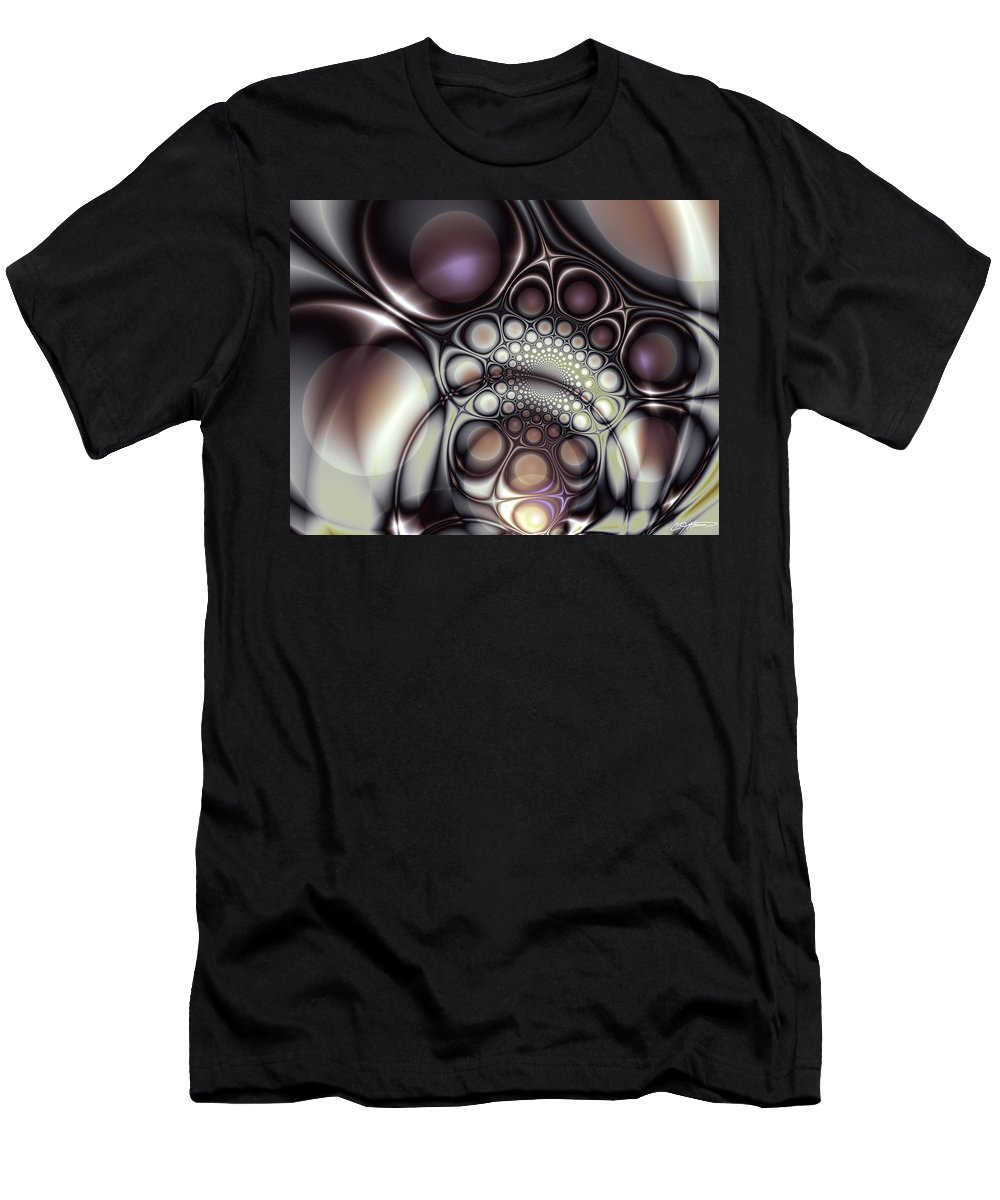 Abstract Men's T-Shirt (Athletic Fit) featuring the digital art Everything In Its Place by Casey Kotas