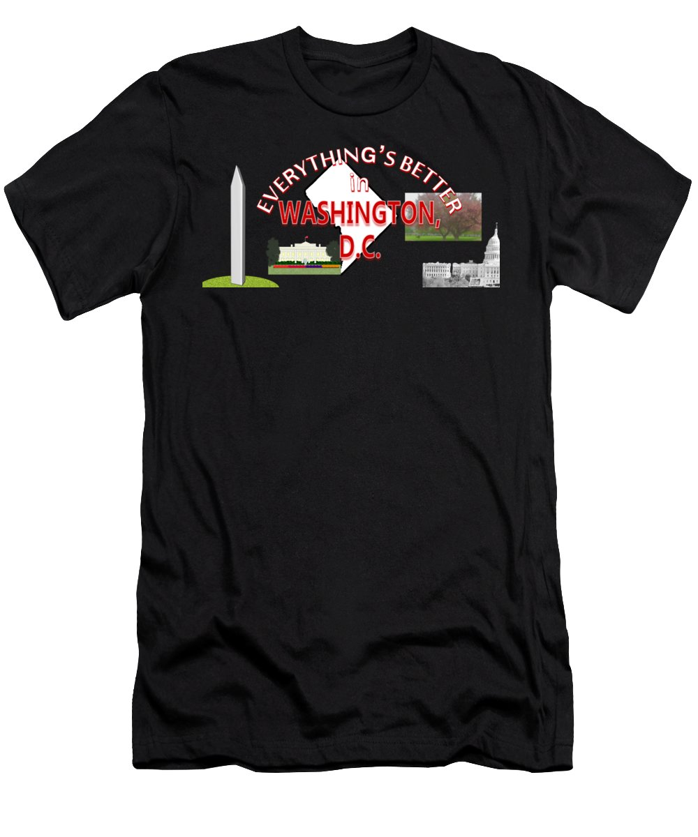 Washington Monument Slim Fit T-Shirts