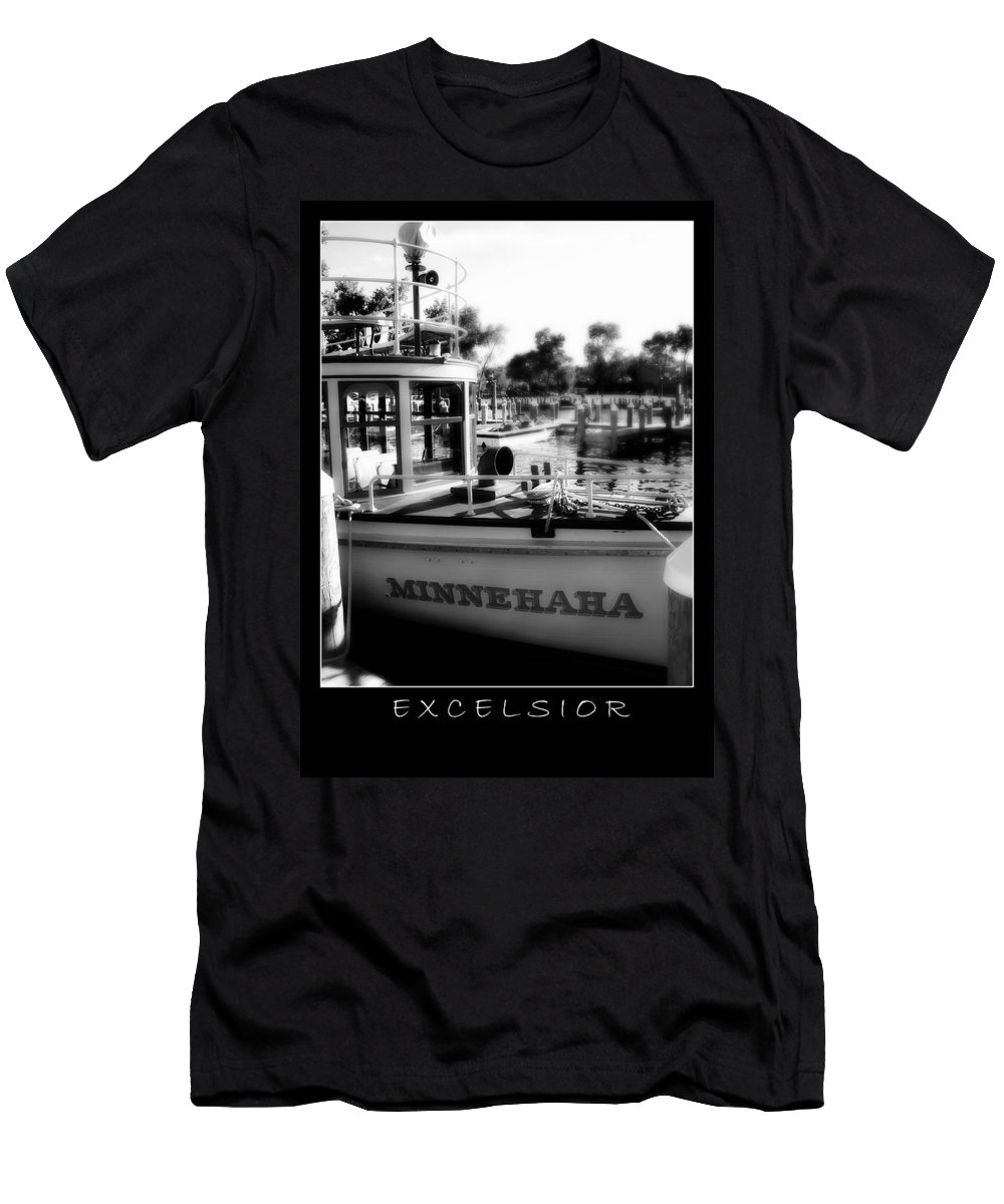 Boat Men's T-Shirt (Athletic Fit) featuring the photograph Excelsior 2 by Perry Webster