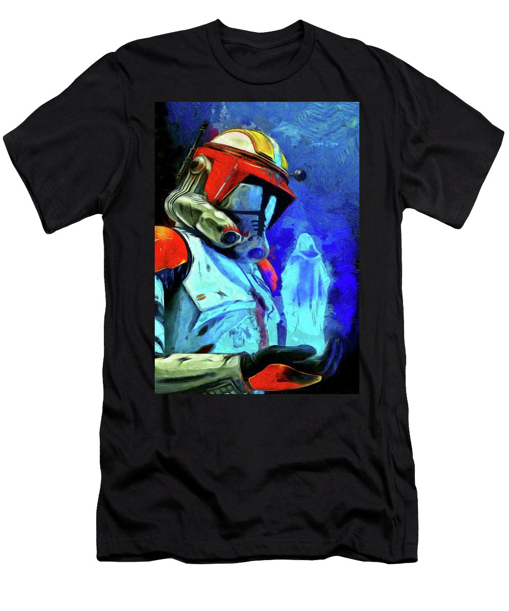Execute Order 66 Men's T-Shirt (Athletic Fit) featuring the painting Execute Order 66 Remake by Leonardo Digenio