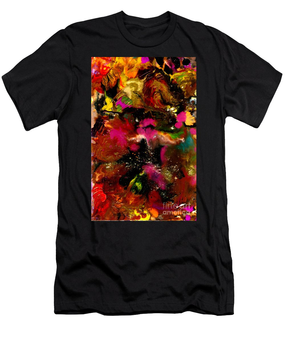 Wood Men's T-Shirt (Athletic Fit) featuring the painting Exotic Garden by Angela L Walker