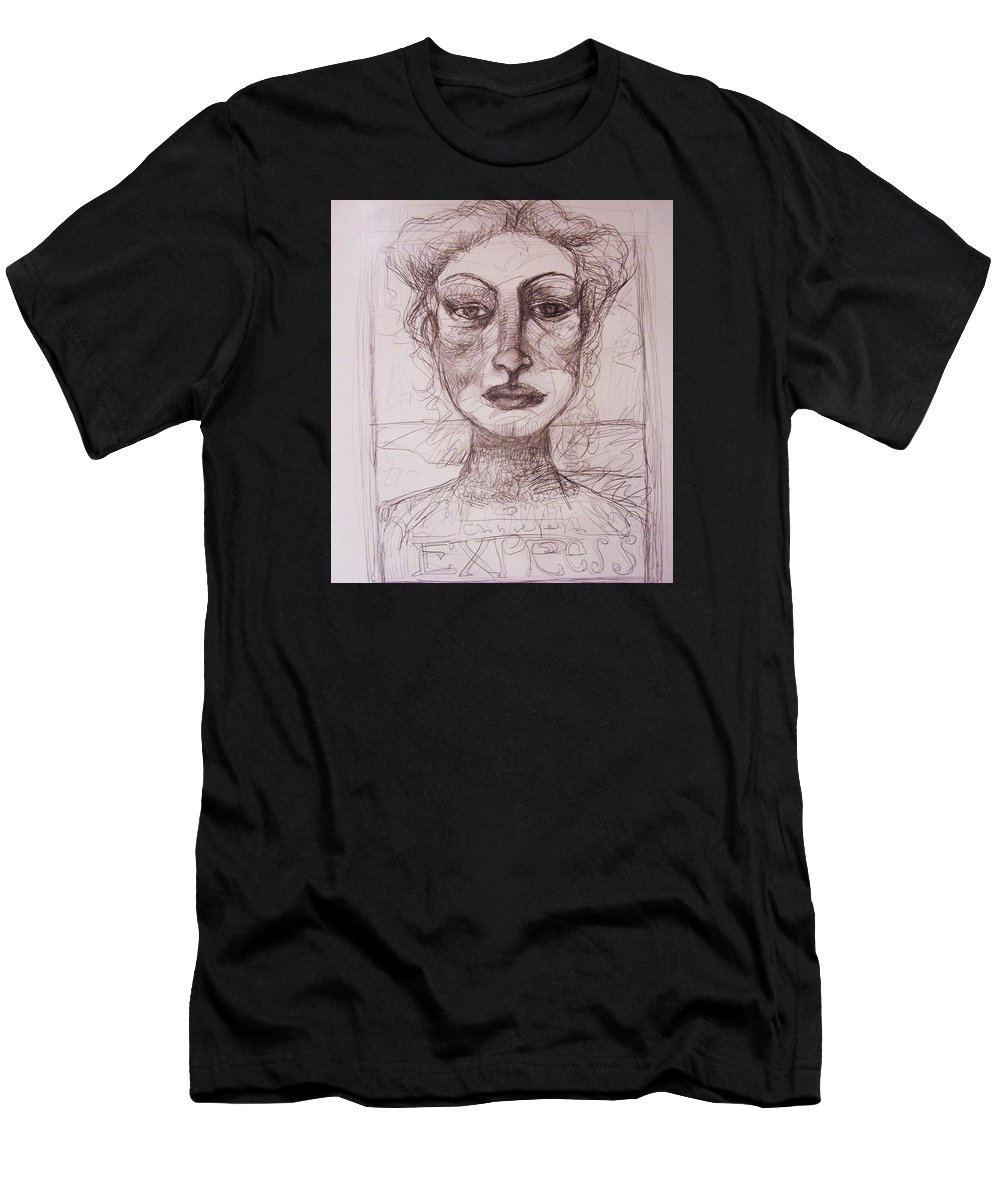 Drawing Men's T-Shirt (Athletic Fit) featuring the drawing EXP by Mykul Anjelo