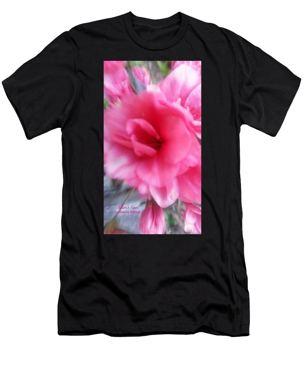 Azaleas Men's T-Shirt (Athletic Fit) featuring the photograph Exploding Pink Azaleas by Maxine Billings