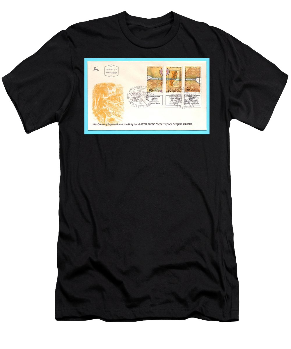 First Day Cover Men's T-Shirt (Athletic Fit) featuring the photograph explorers First day cover by Ilan Rosen