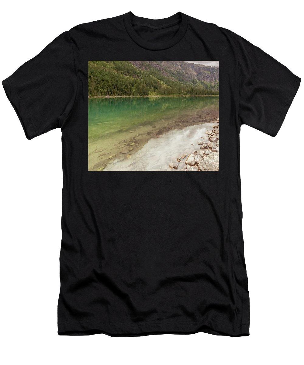 Glacier Men's T-Shirt (Athletic Fit) featuring the photograph Exploring Glacier by Scott Ricks