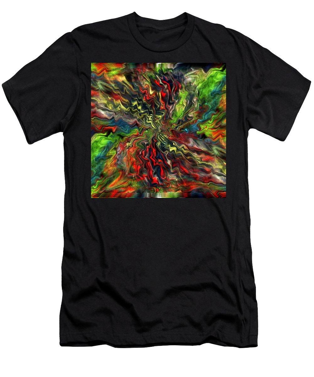 Digital Picture.art Digital Men's T-Shirt (Athletic Fit) featuring the digital art Explosion by Halina Nechyporuk