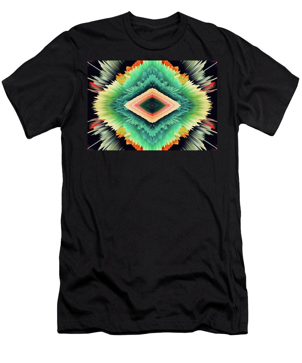 Abstract Men's T-Shirt (Athletic Fit) featuring the photograph Exponential Flare by Colleen Taylor