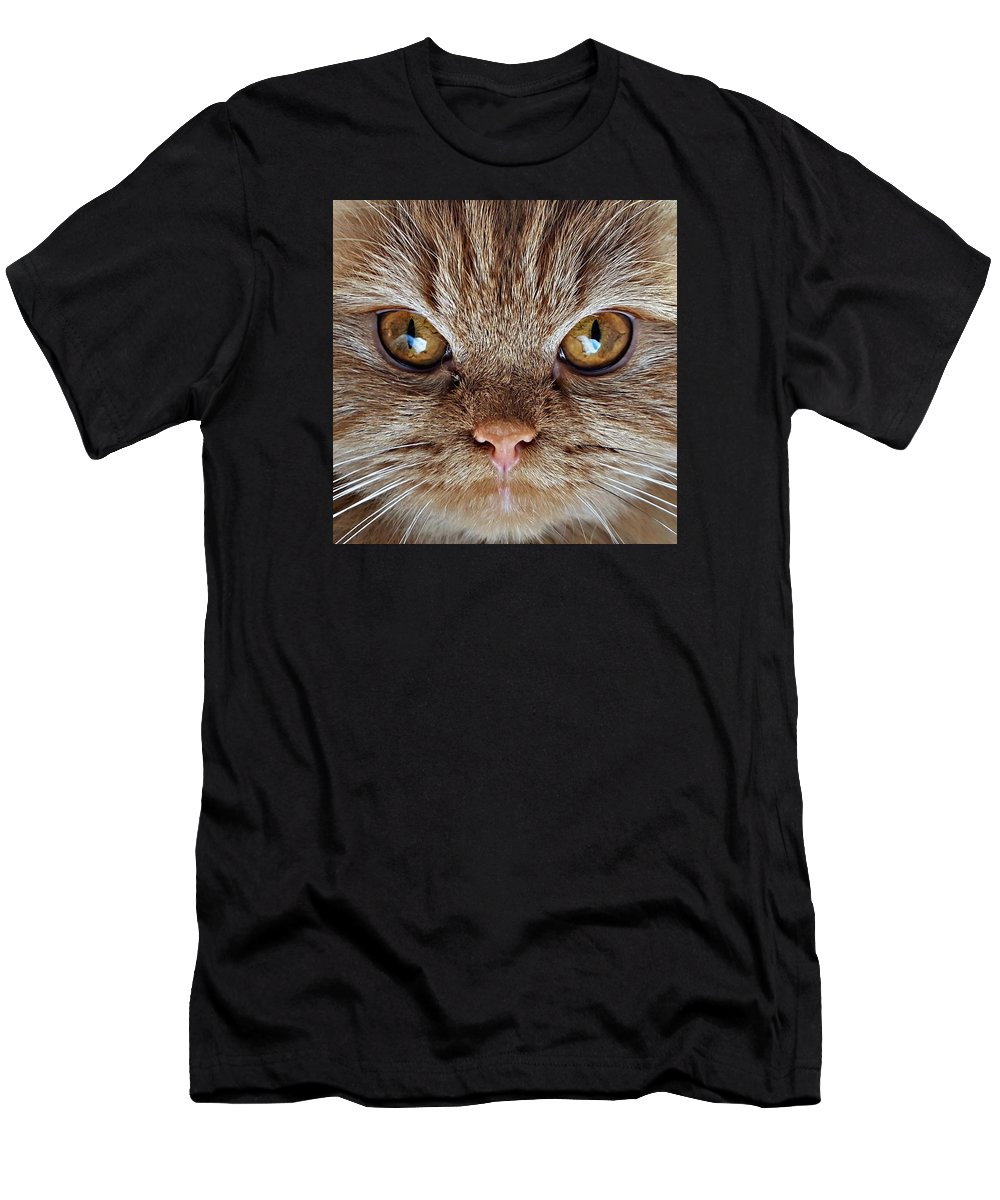 Cat Men's T-Shirt (Athletic Fit) featuring the photograph Eye Of The Tiger by Ghaliah Alfarsi