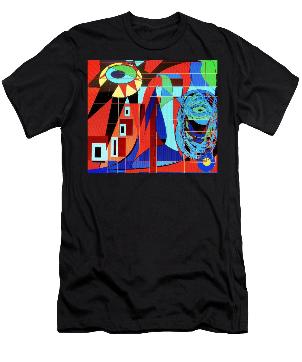Eye Men's T-Shirt (Athletic Fit) featuring the digital art Eye Of The Tiger by Ian MacDonald