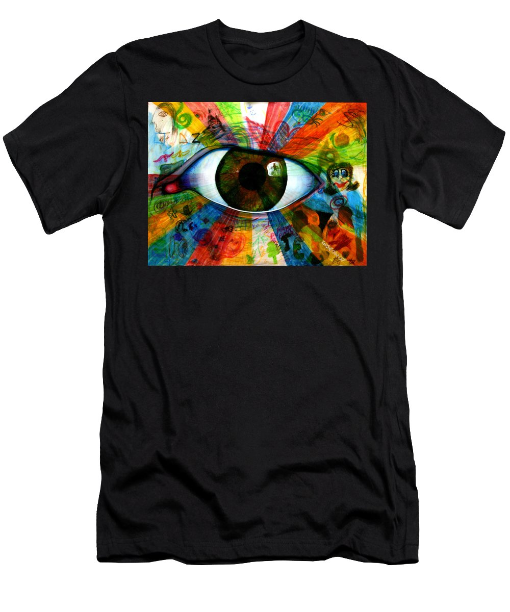 Painting Men's T-Shirt (Athletic Fit) featuring the painting Eye To The Soul by Gideon Cohn