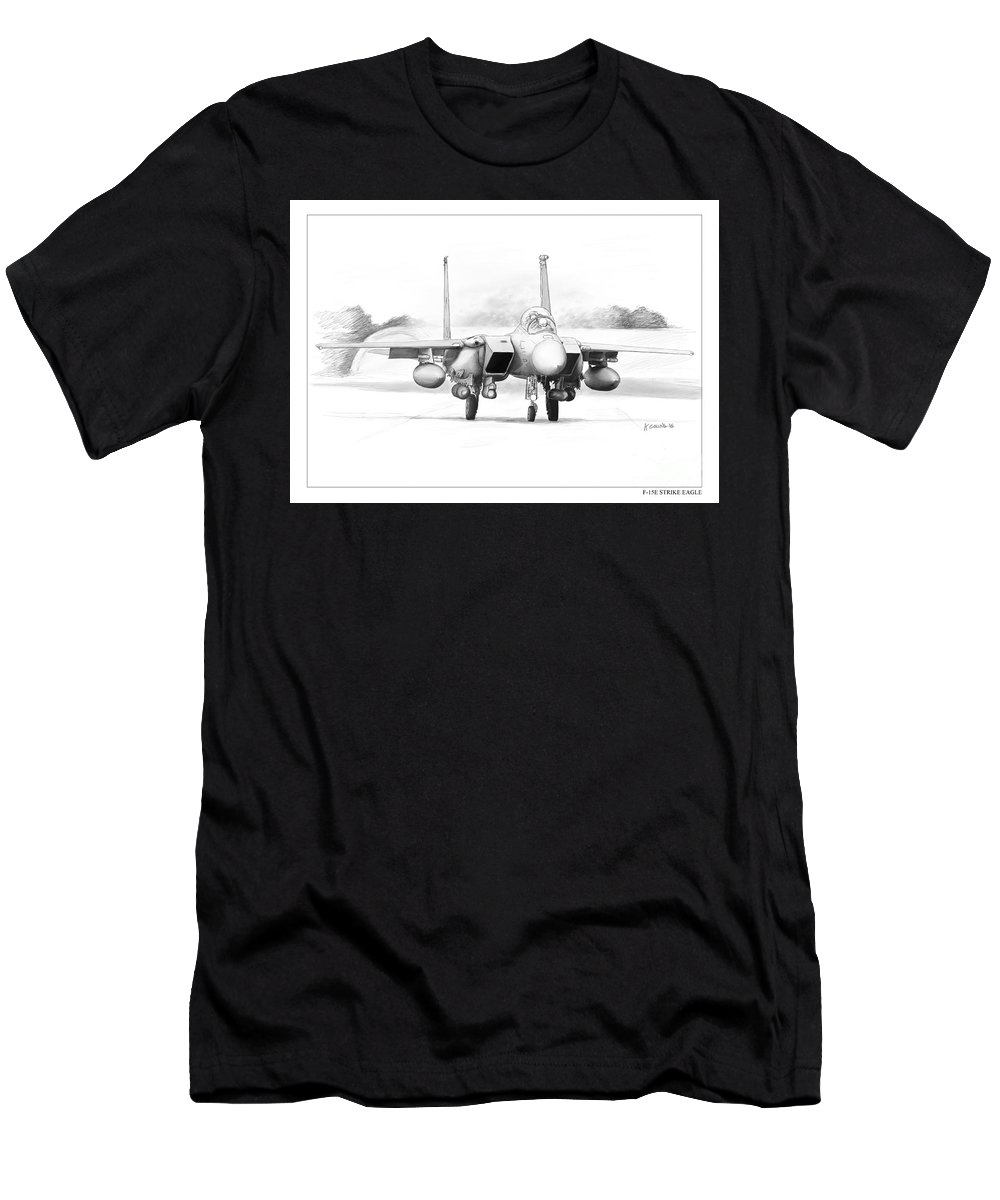 F-15e Men's T-Shirt (Athletic Fit) featuring the drawing F-15e Strike Eagle by Andrew Collins
