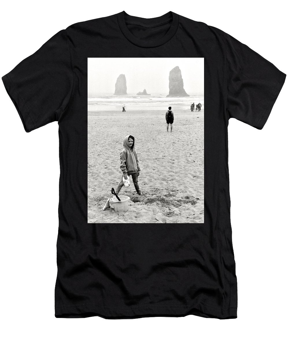 Beach Men's T-Shirt (Athletic Fit) featuring the photograph Faa-beach Fun. by Spirit Vision Photography