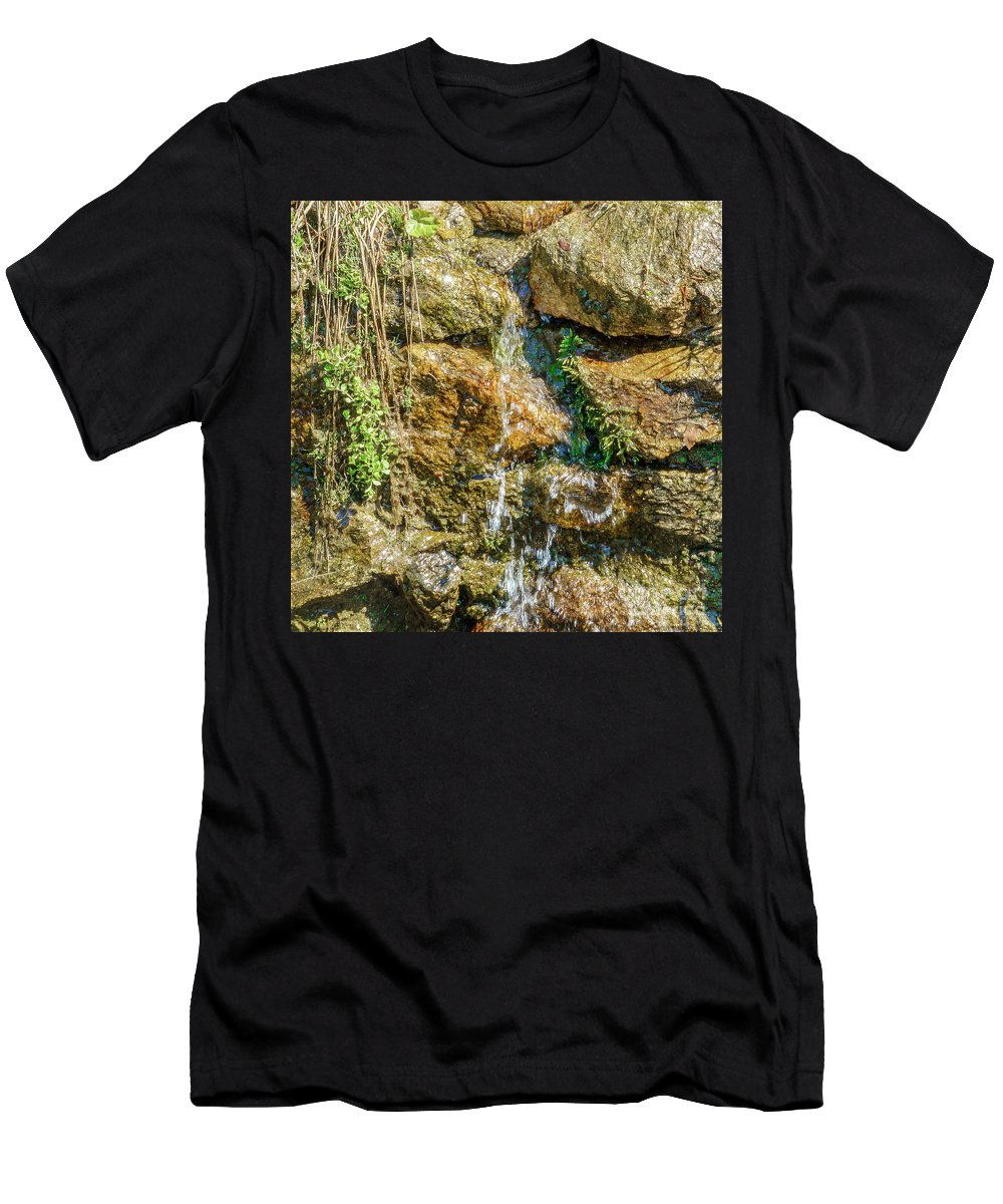 Face Men's T-Shirt (Athletic Fit) featuring the photograph Face Of The Mountain Stream by Mariusz Sprawnik