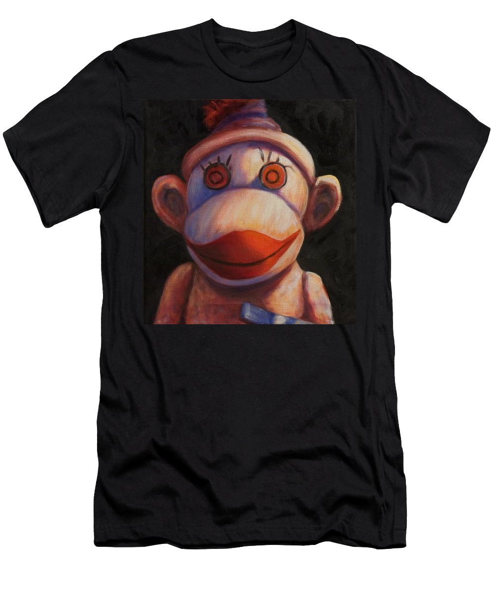 Children Men's T-Shirt (Athletic Fit) featuring the painting Face by Shannon Grissom