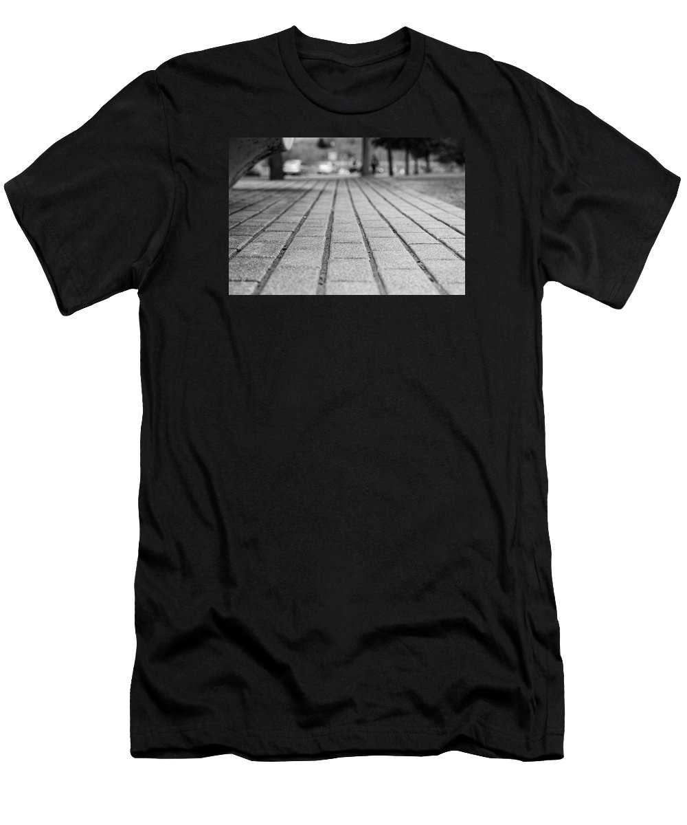 Abstract Men's T-Shirt (Athletic Fit) featuring the photograph Fade Out Lines by Scott Hill