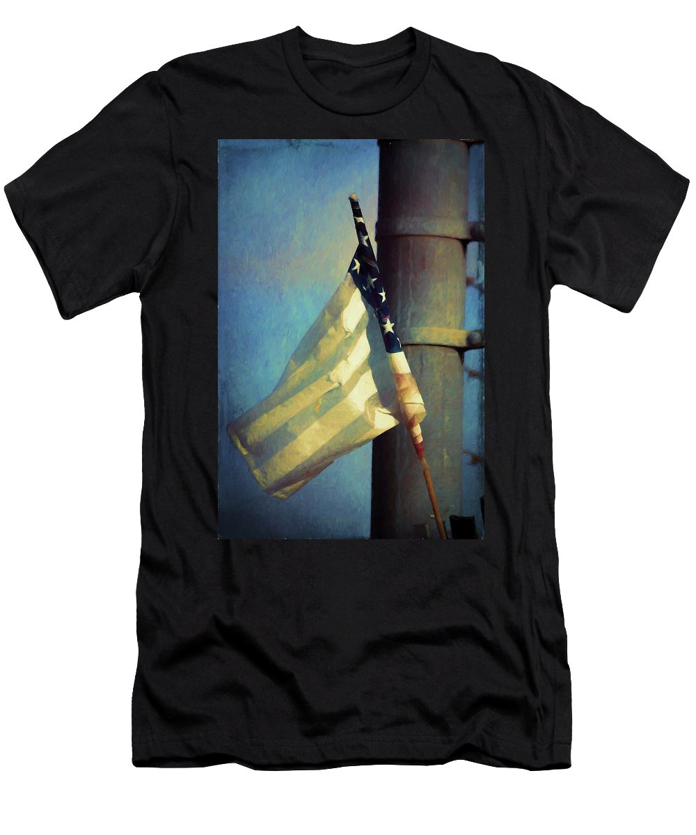 Art Men's T-Shirt (Athletic Fit) featuring the photograph Faded Glory by Marshall Barth