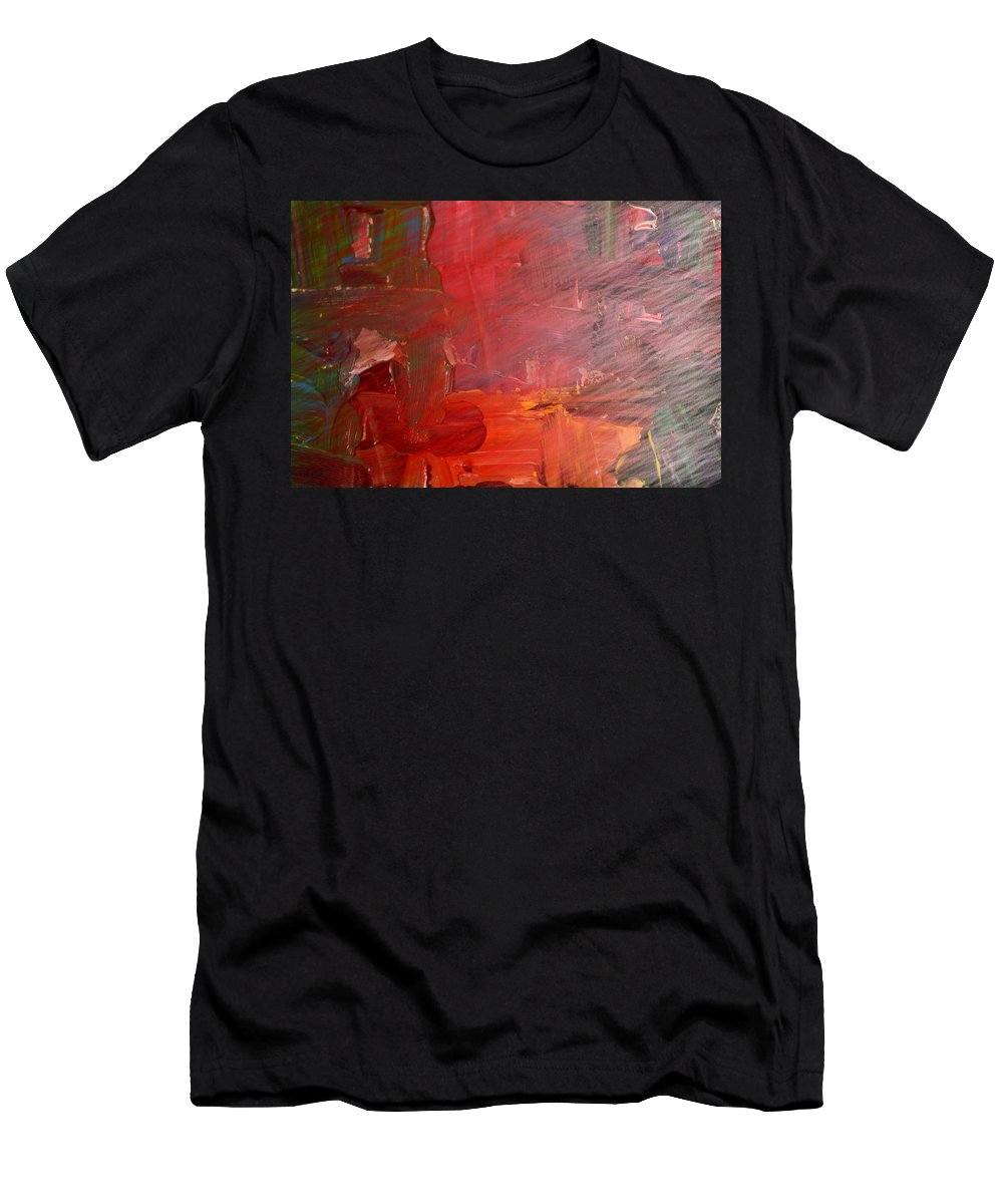 Abstract Men's T-Shirt (Athletic Fit) featuring the photograph Faded Shadows by Jeff Swan